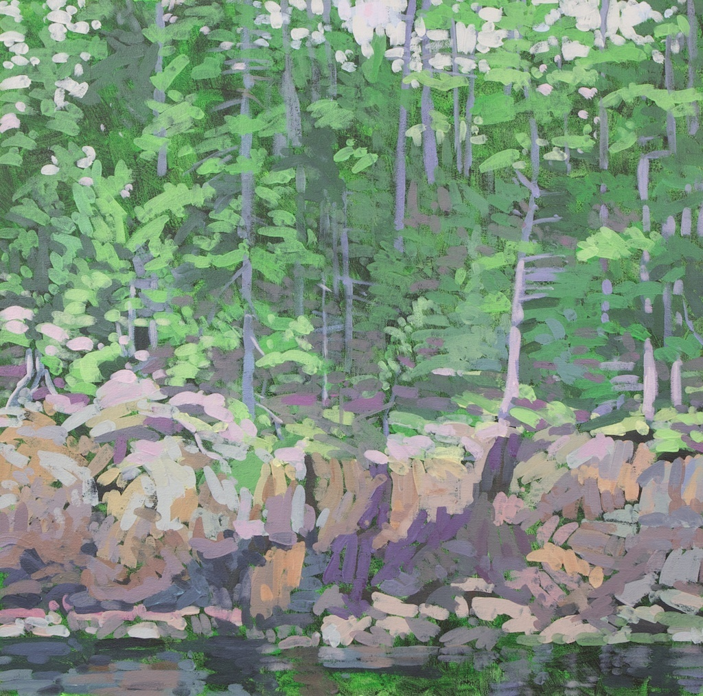 Rocky Shore, Northeast Harbor, 2012, Acrylic on Canvas, 24 x 24 in.