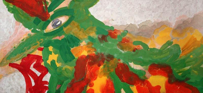 Symurg, olej/płótno, 150x50