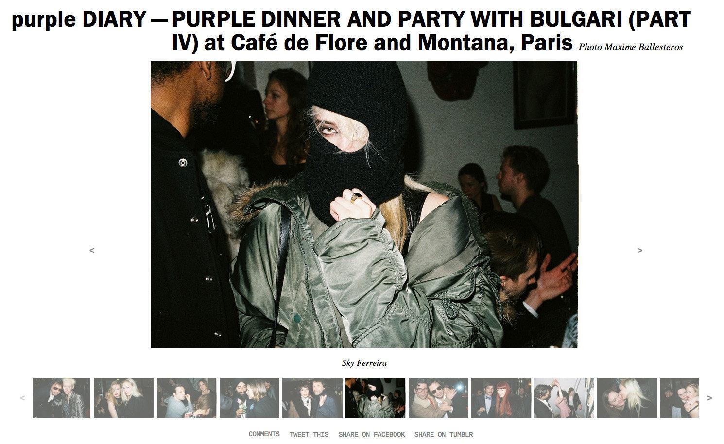 purple DIARY   PURPLE DINNER AND PARTY WITH BULGARI  PART IV  at Café de Flore and Montana  Paris.j