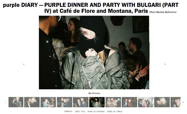 purple DIARY   PURPLE DINNER AND PARTY WITH BULGARI  PART IV  at Café de Flore and Montana  Paris.j