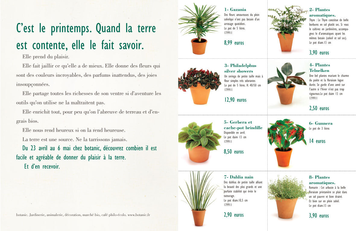 """<font color=""""#aaa7a6"""">Guide jardinier, prospection (conseils).</font>"""