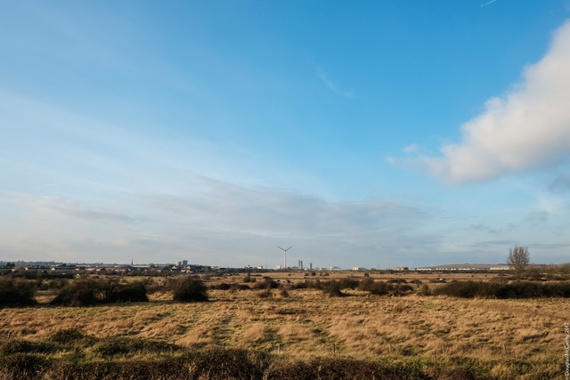 Erith from Crayford Marshes