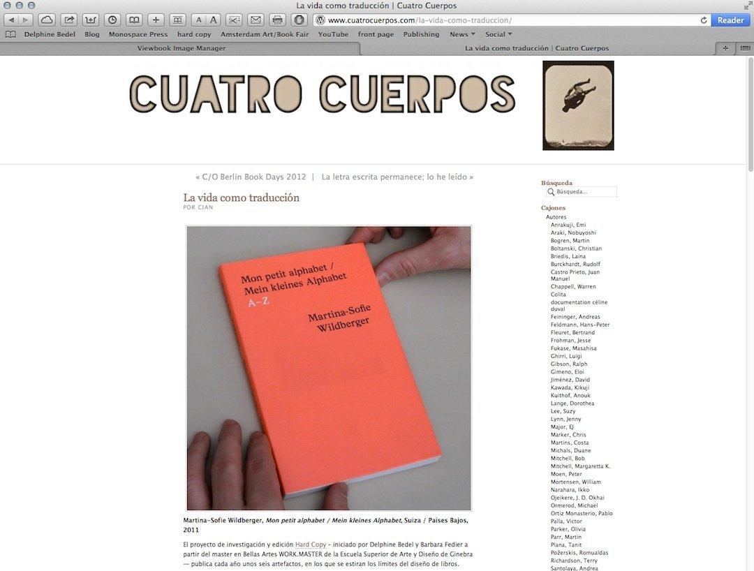CUATRO CUERPOS, 2011