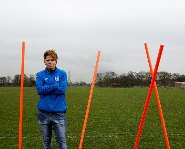Sue Smith - on home training ground