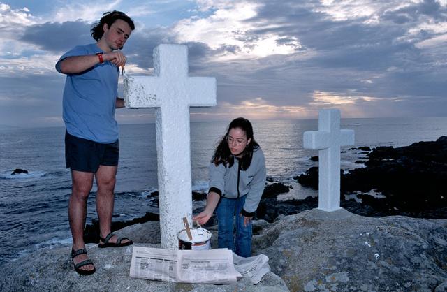Costa da Morte,croix des disparus en mer, La Corogne