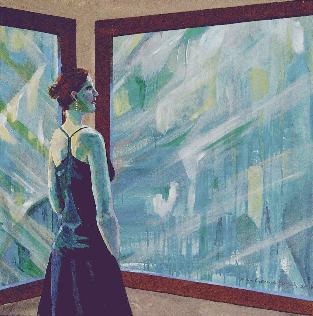Annabel Lee z cyklu Umizgi 70x70 akryl pótno 2013