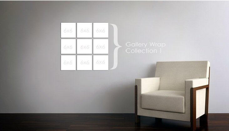 Gallery wrap collection 1