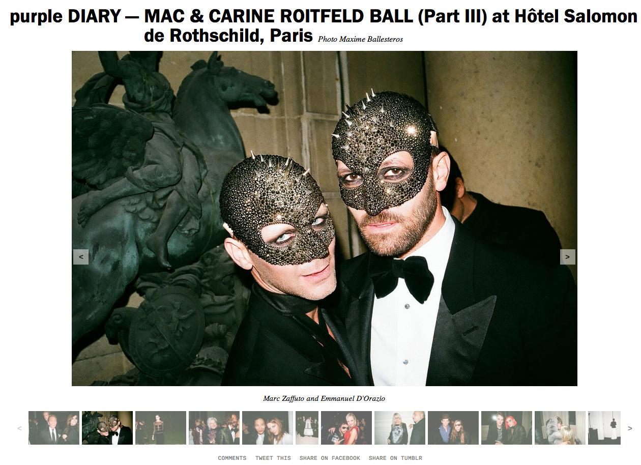 purple DIARY   MAC   CARINE ROITFELD BALL  Part III  at Hôtel Salomon de Rothschild  Paris copie.jpg