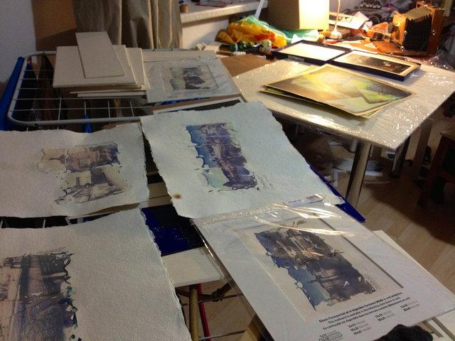 Process - preparing exhibition