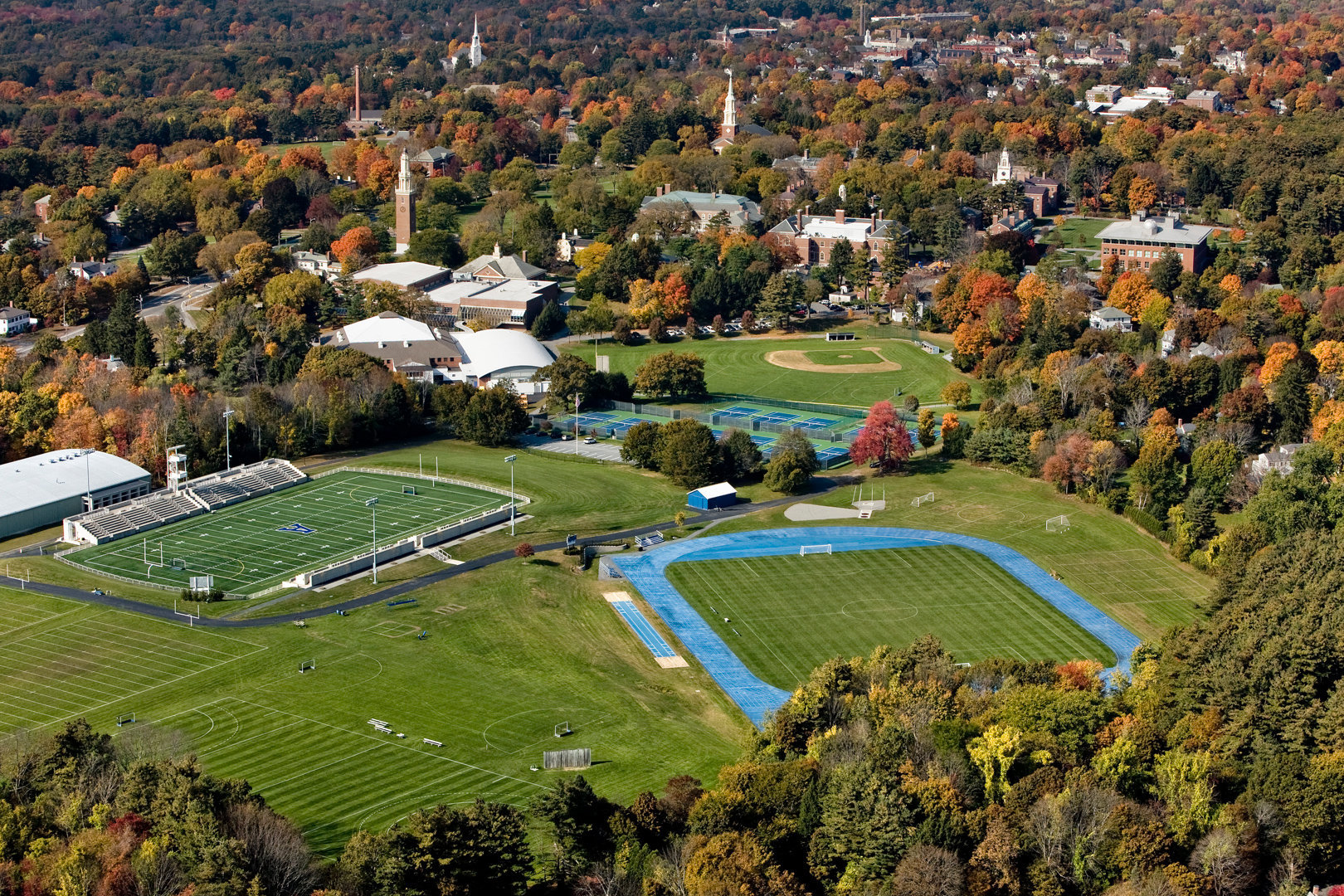 Athletic Fields & Academic buildings in background
