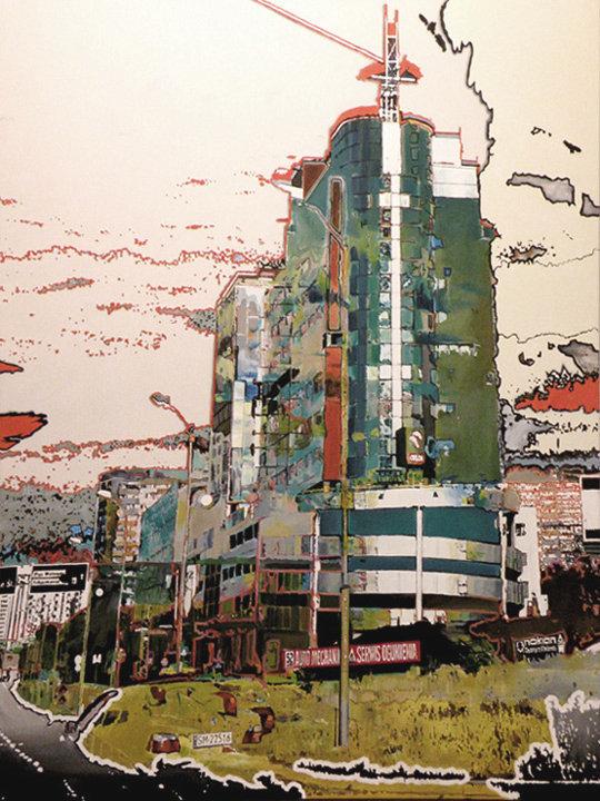 Wieża Przeznaczeń, 130x100 akryl płótno, 2011,