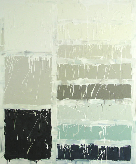 Pure White, 2015, Best selling Sherwin Williams paints of 2015 interior latex on canvas, 72 x 60 in.