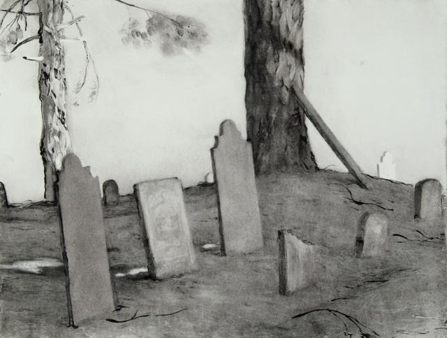 "Quaker Cemetery, 21 x 25"""