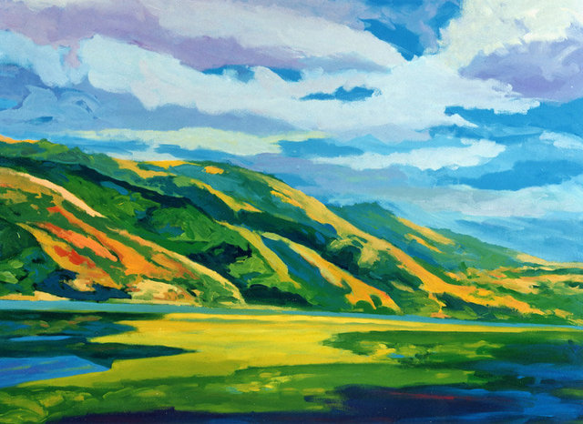BOLINAS LAGOON, acrylic on canvas