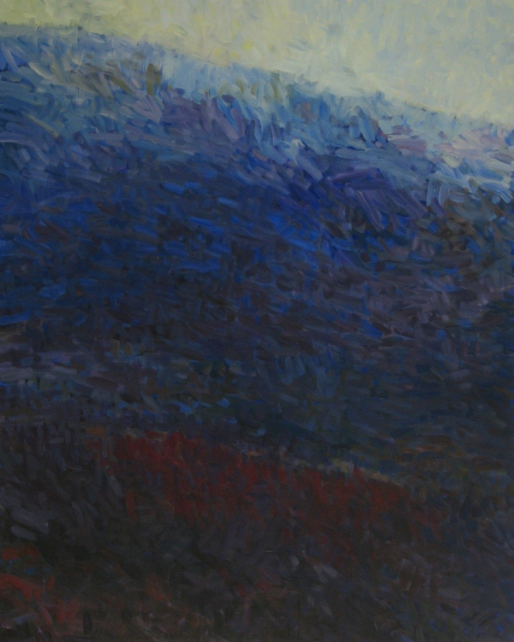"Now Dark Valley,  2014, Acrylic on Canvas, 60"" x 48"""
