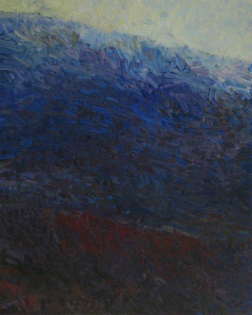 "Now Dark Valley,  2014, Acrylic on Canvas, 60"" x 48"""