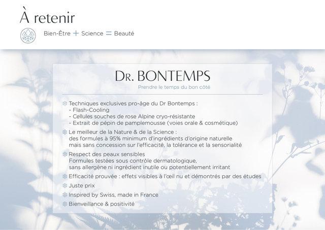 """<font color=""""#aaa7a6"""">Dr. Bontemps : plateforme de marque (19/20).</font>"""
