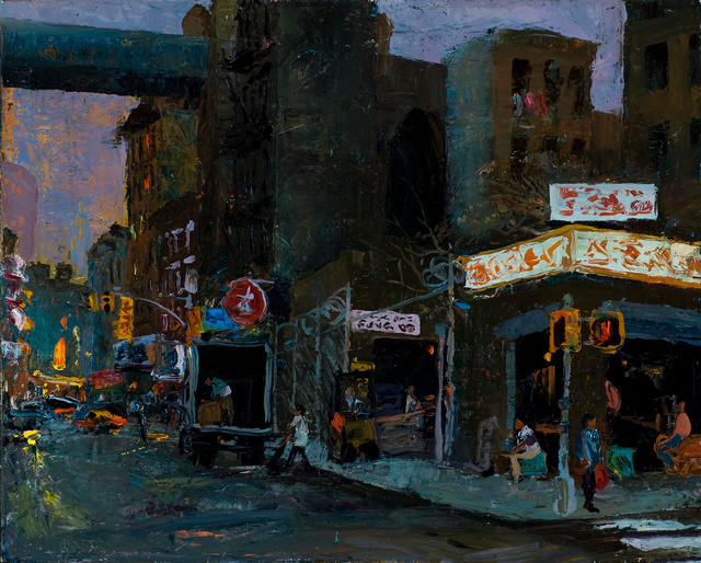 "Chinatown Evening, 24 x 30""  sold"