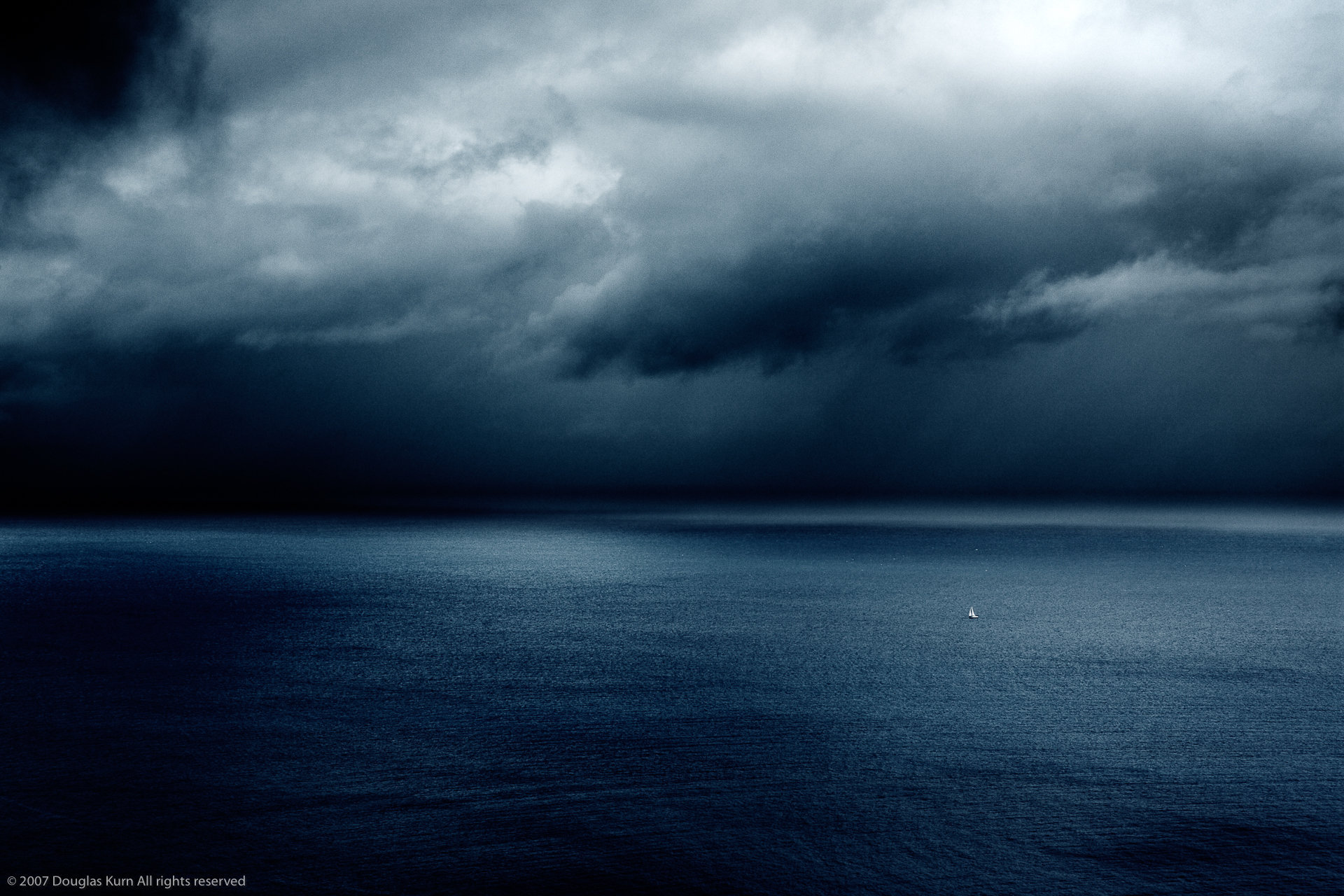 Yacht in a storm