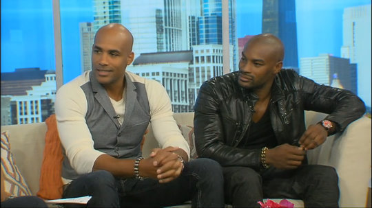 "Actors Tyson Beckford and Boris Kodjoe ""Addicted"" Press Tour"