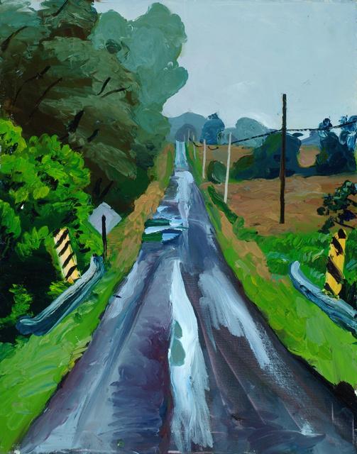 "Rainy Road, 28 x 22"""