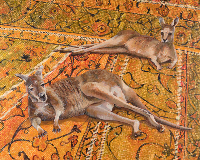 30.--Kangaroos-on-thread-bare-migrant's-rug-Acrylic-on-canvas-90cmH-x-113cmW-2019.jpg