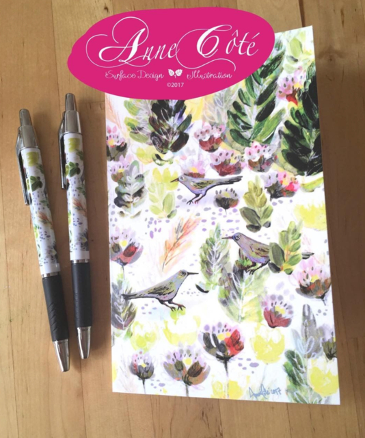 Pens and greeting cards for ACOTECREATION
