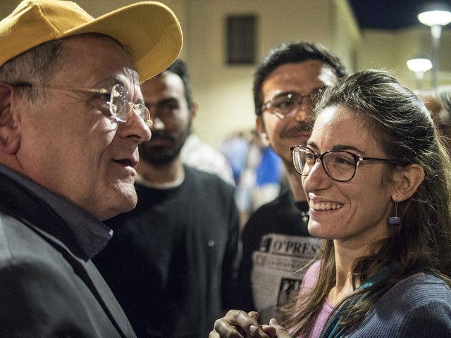 39. Renato Natale durante l'ultimo comizio prima del ballottaggio