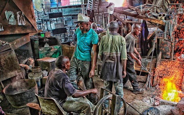 Together they get it done - Artisans of Muthurwa Nairobi Kenya