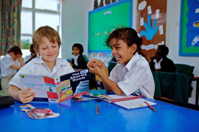 Children in class enjoying a class activity - Nairobi