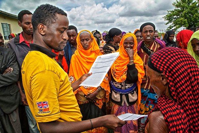 Hunger Safety Net Programme registration in Marsabit, Kenya
