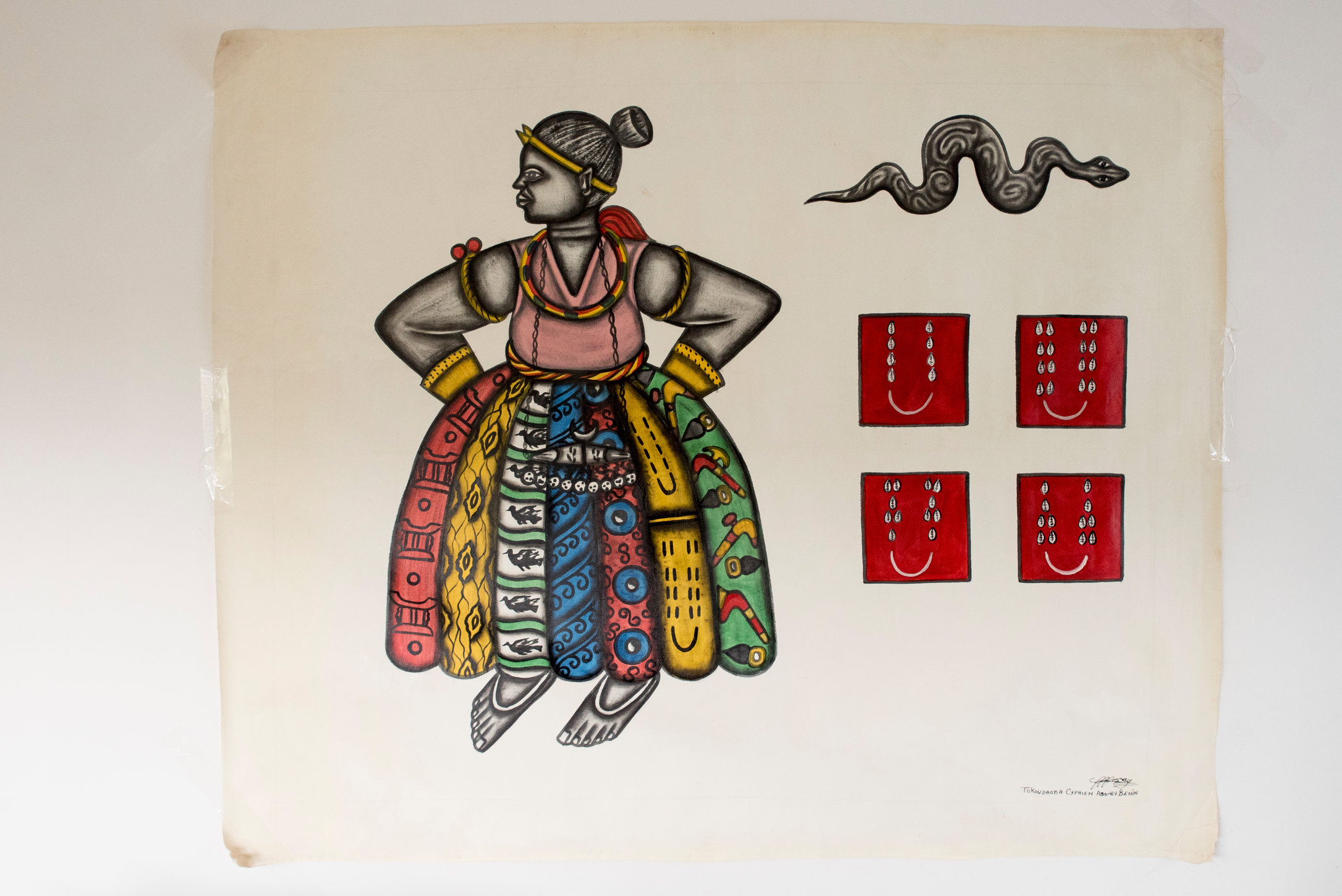 Princesse mille pagnes, 123 x 158 cm 5000€