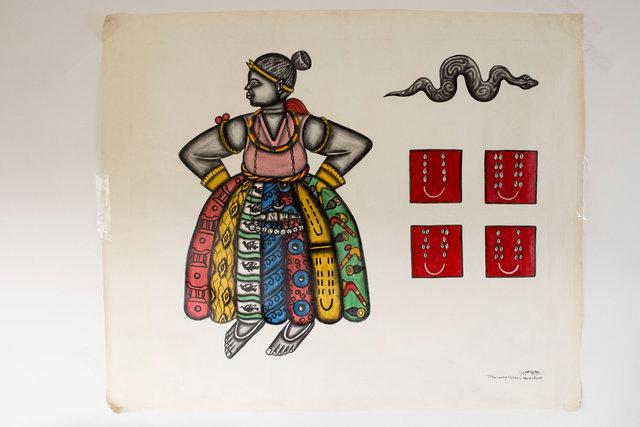 Princesse mille pagnes, 123 x 158 cm 4500€0