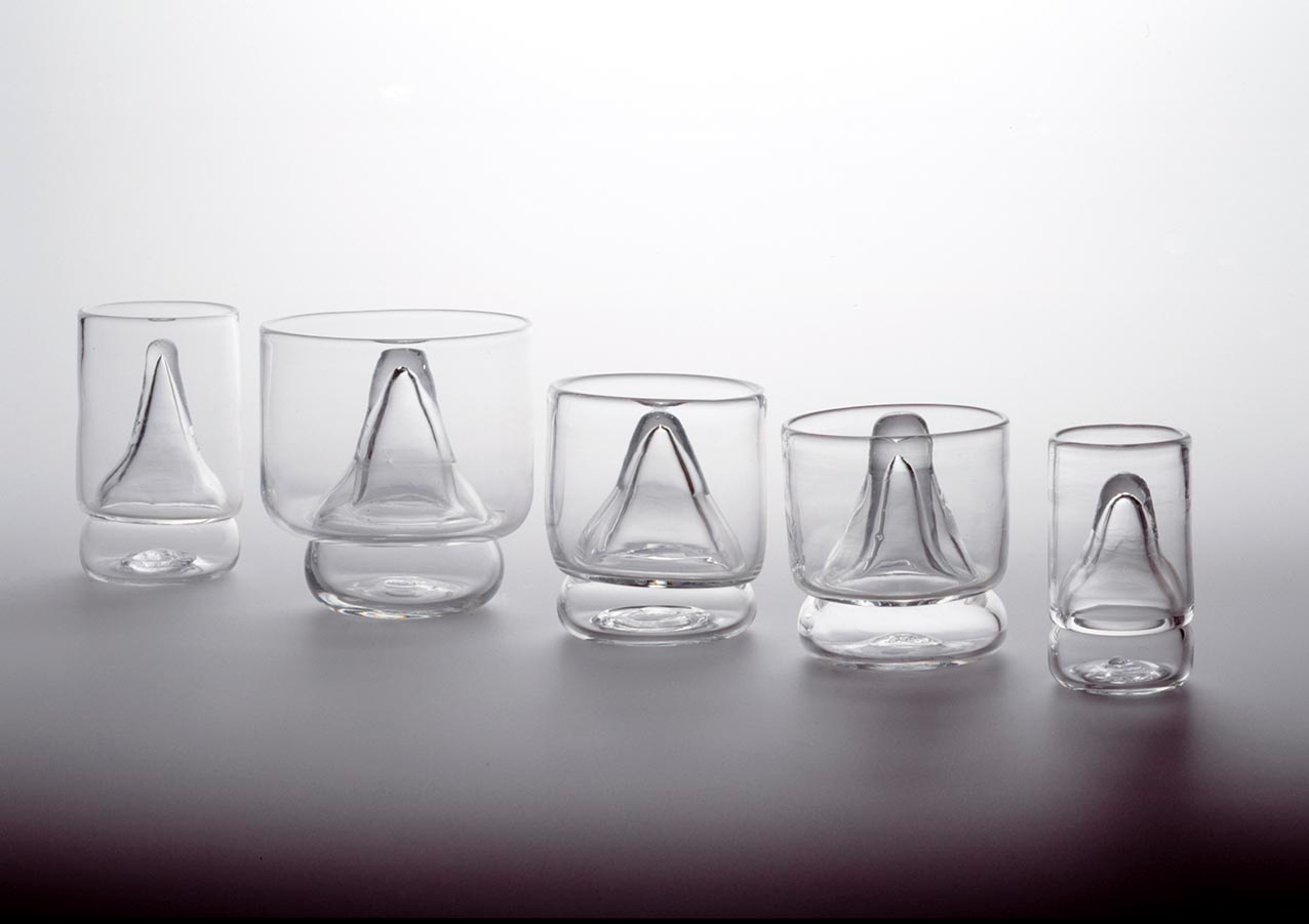 Five Cocktail Glasses