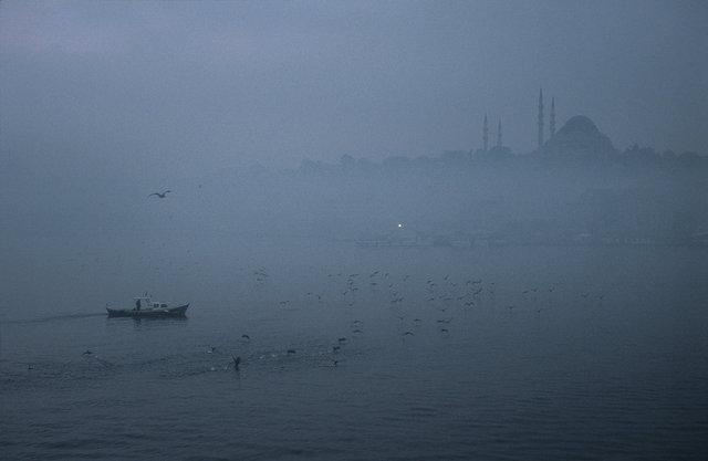 Turquie, Istanbul. Rive nord de la Corne d'Or, mosquée Soliman le Magnifique