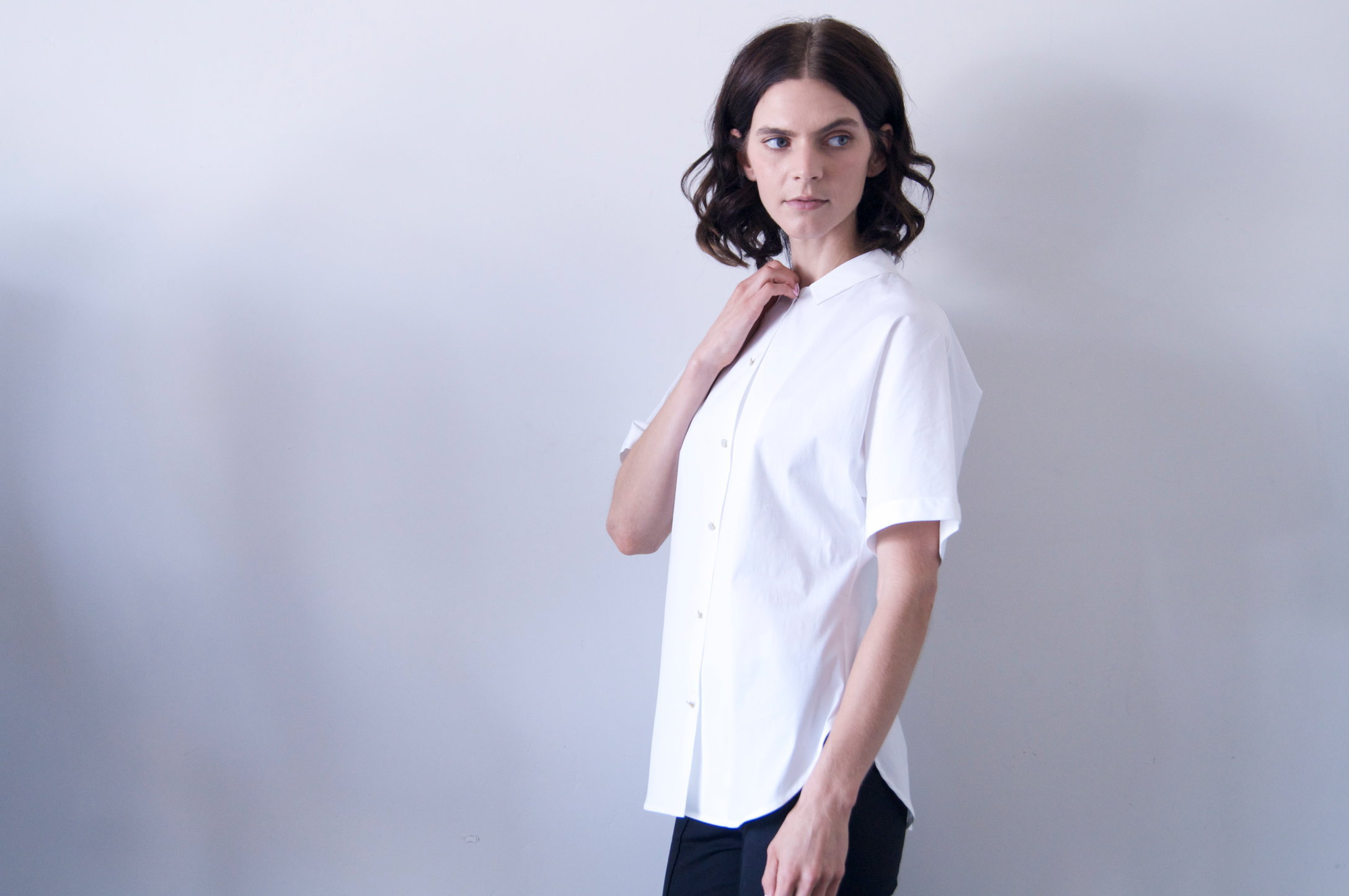 liko shirt in white cotton   690.00