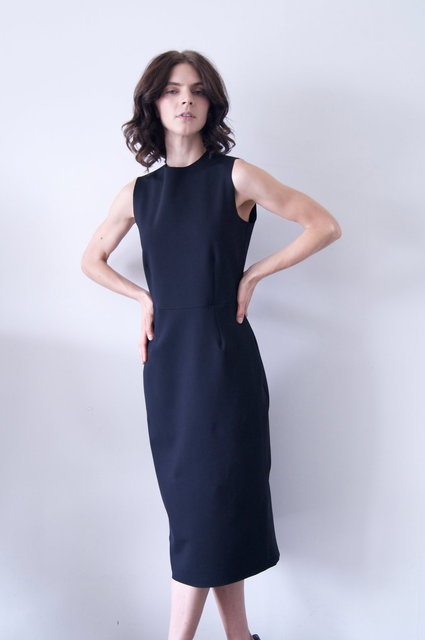 dassah dress in black neoprene   550.00