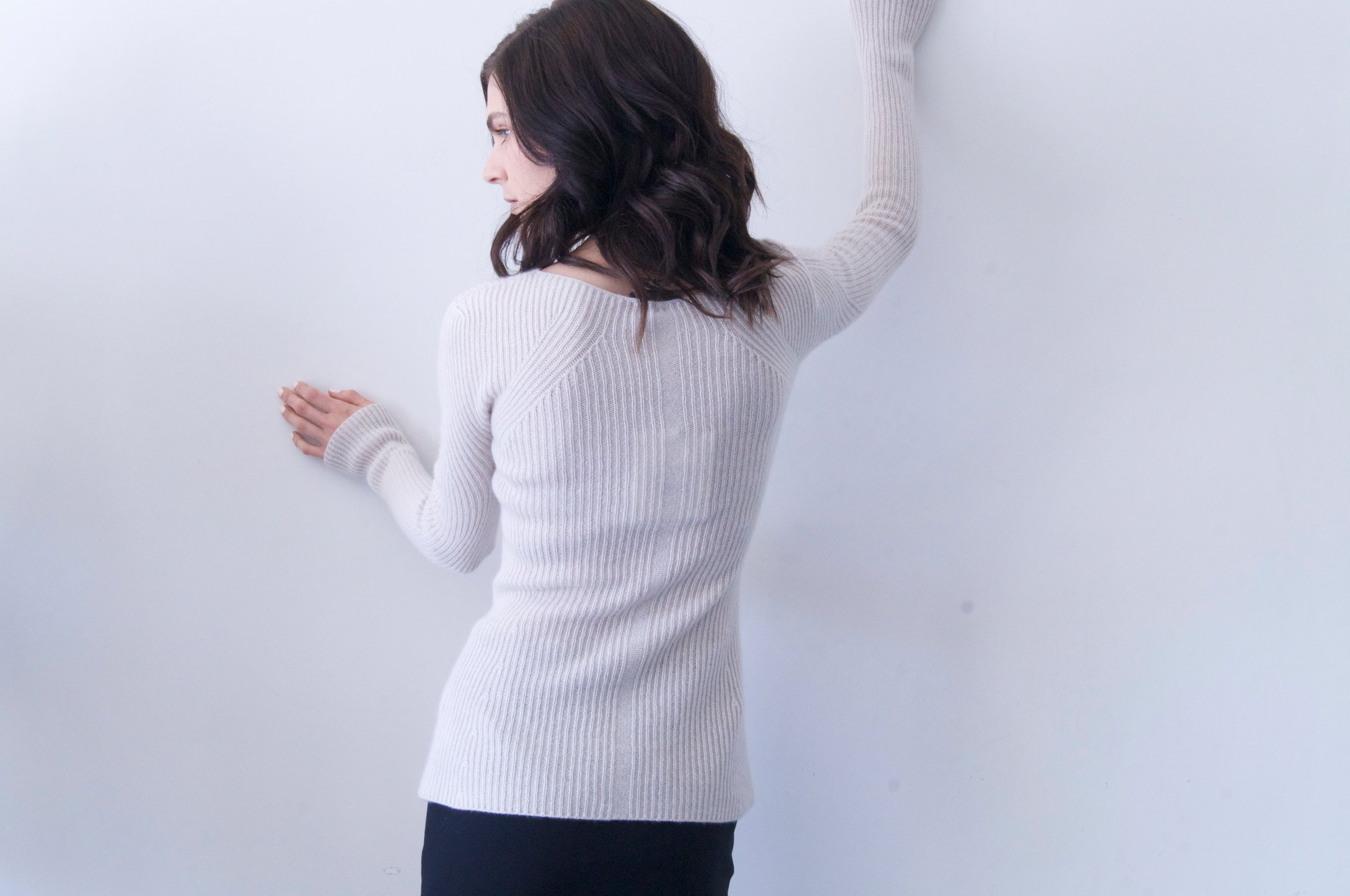 blanca top in barley cashmere   990.00