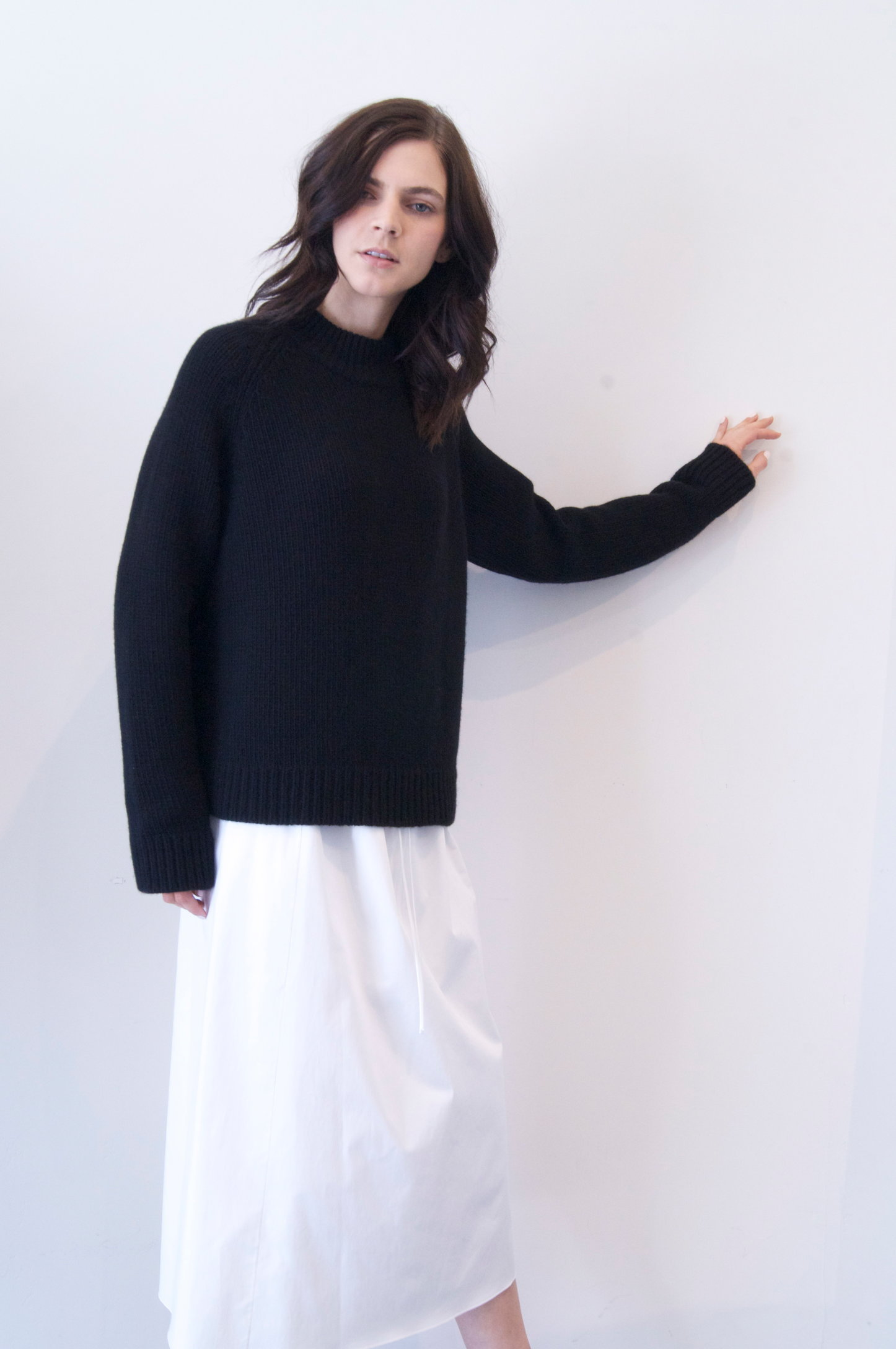 siphin top in black cashmere   1590.00