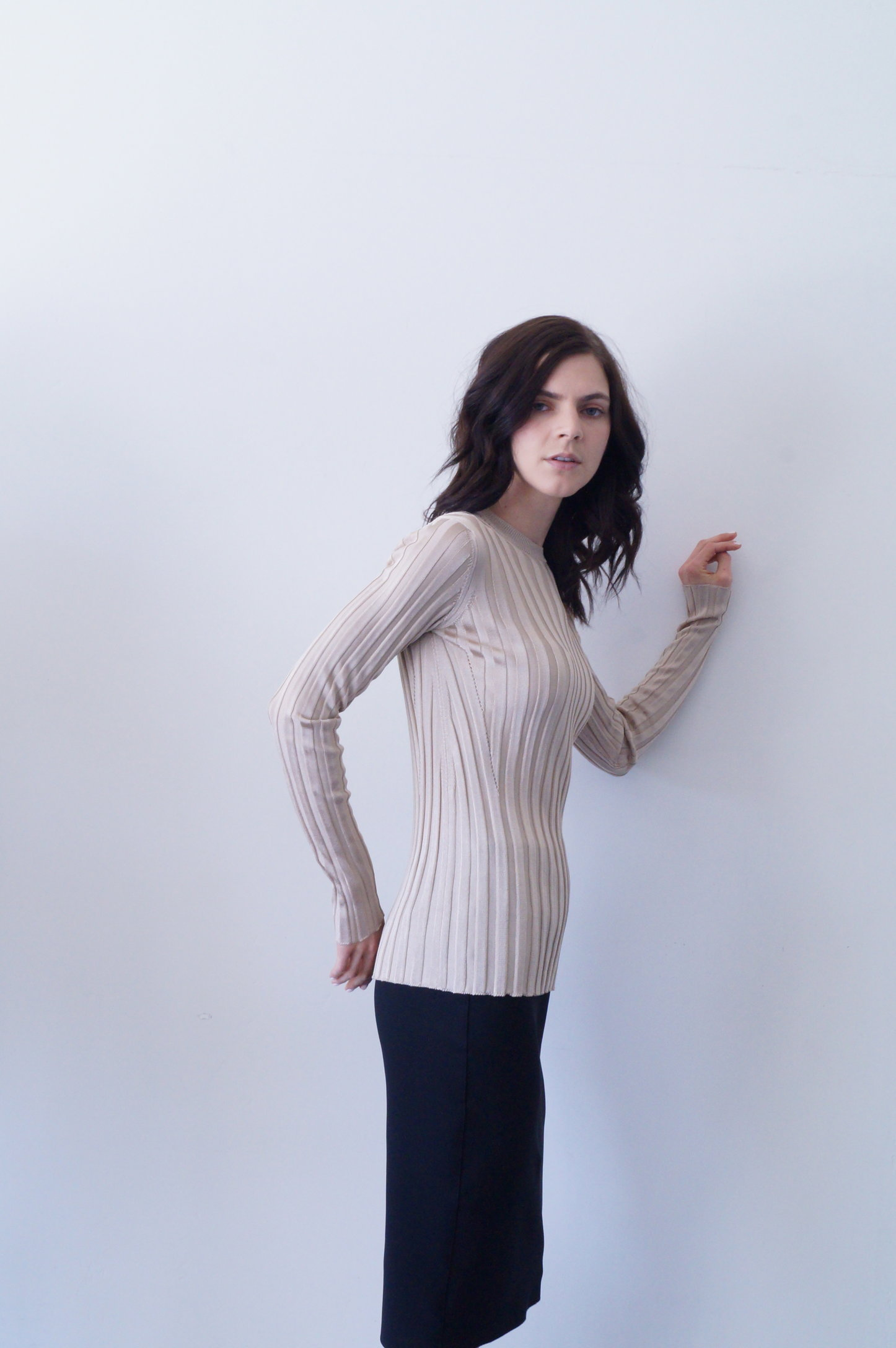 ninett top in light beige   950.00