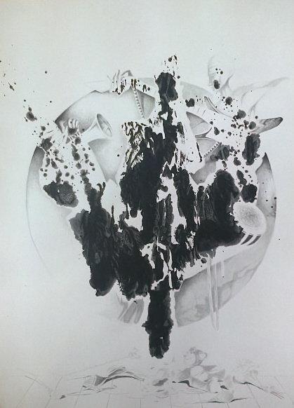 Muzykanci 50x70 akryl, papier (wł. pryw.)