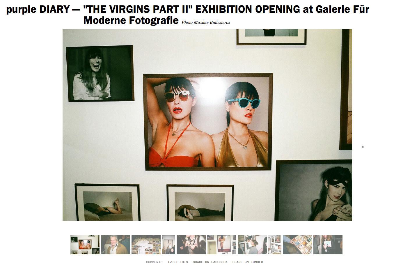purple DIARY    THE VIRGINS PART II  EXHIBITION OPENING at Galerie Für Moderne Fotografie.jpg