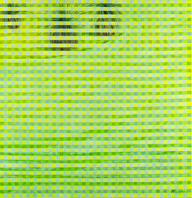 WOVEN FAIRWAY acrylic on canvas 93cmW x 99cmH 2015 AVAILABLE.jpg