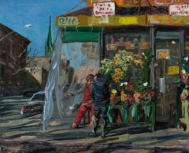 """Flower Vendor, 28 x 34"""""""