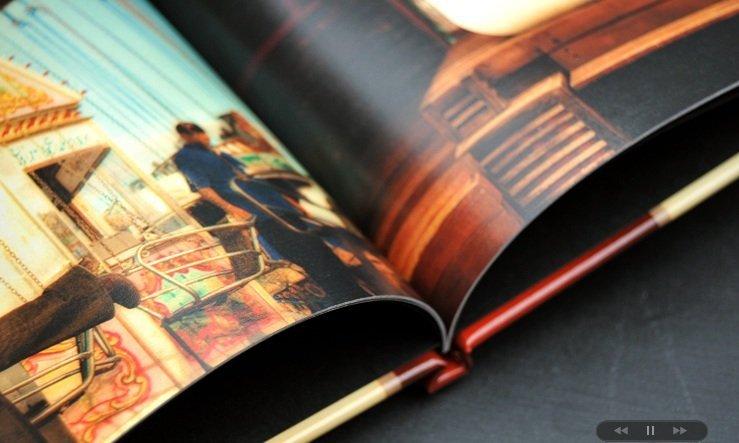 interior of hard cover album