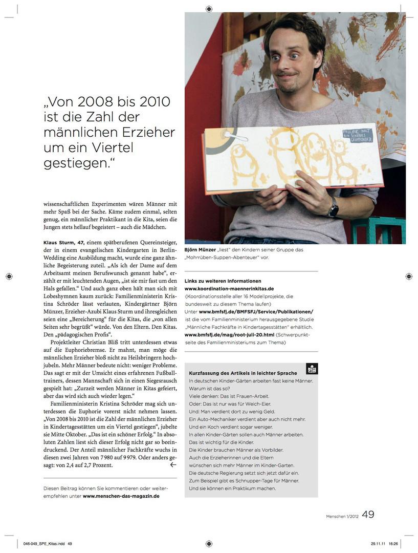 MENSCHEN.das magazin 01.2012