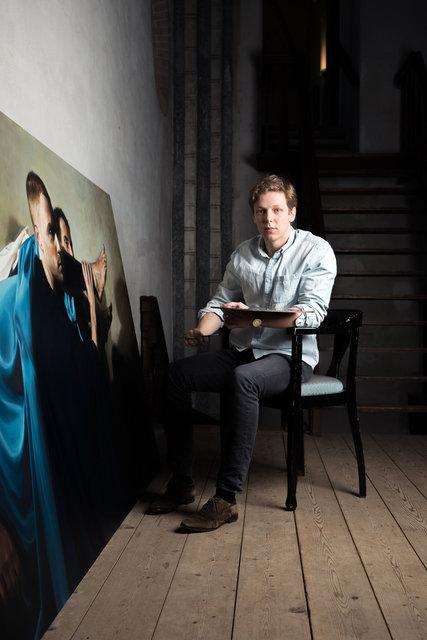 Portret van Egbert Modderman voor de Strijdkreet