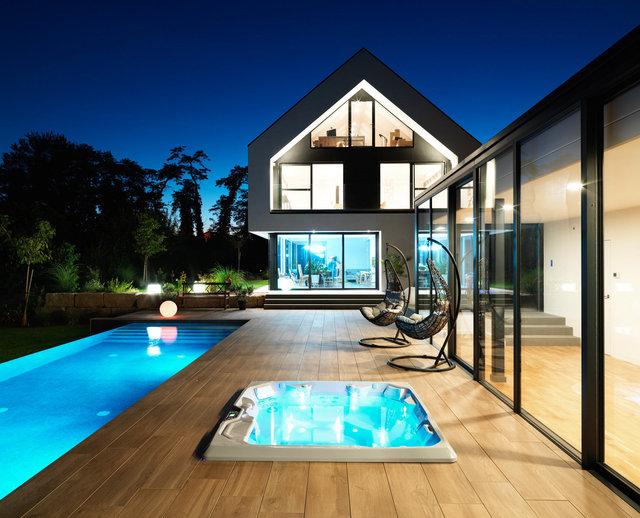 Piscine à débordement, piscine intérieure, jacuzzi et sauna - Lauterbourg 2018