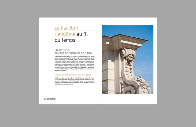 Pavillon Vendôme - pages intérieures du dossier de presse // Client: Ville de Clichy-la-Garenne.