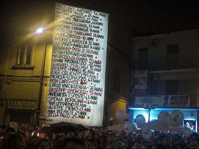 54.Caivano, Italy. Fiaccolata in onore delle vittime di cancro e di leucemia